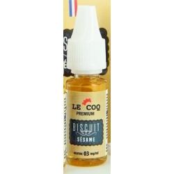 E-liquide Le Coq Premium Biscuit Sésame  10ml  - Le Coq qui Vape