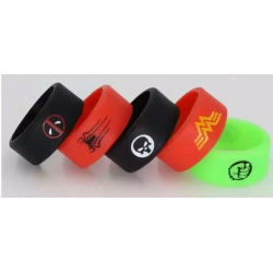 Bague silicone Marvel 22/10mm