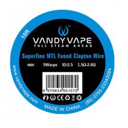 Fil résistif Superfine MTL clapton wire - Vandy Vape
