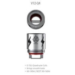 Résistance V12 - Q4 - 0.15ohms - pack de 3 - Smok