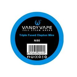 Fil résistif triple fused clapton wire NI80 - Vandy vape