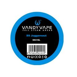 Fil résistif SS juggernaut SS316L - Vandy vape