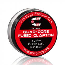 Coils préfabriqués quad-core fused clapton - Pack de 10 - Coilology